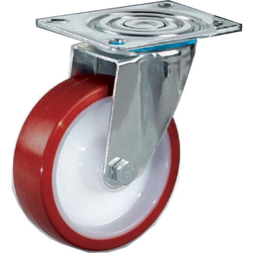 ruota per carrelli in nylon poliuretano supporto fisso