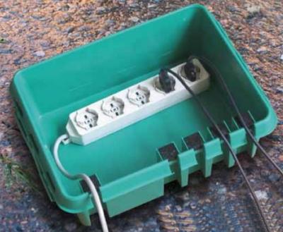Scatola isolante impermeabile plastica per cavi prese - Prese elettriche esterne ...